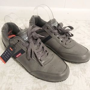 NEW Levi's men's sneakers grey bowling shoe style